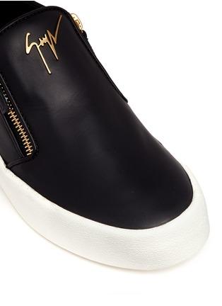 Giuseppe Zanotti Design-'May London' leather skate slip-ons