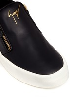 'May London' leather skate slip-ons