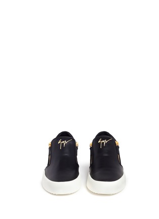 Front View - Click To Enlarge - Giuseppe Zanotti Design - 'May London' leather skate slip-ons