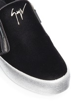 'May London' velvet skate slip-ons