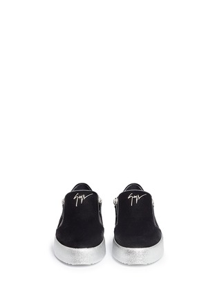 Giuseppe Zanotti Design - 'May London' velvet skate slip-ons