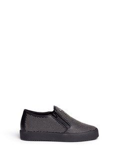 Giuseppe Zanotti Design 'May London' stud leather skate slip-ons