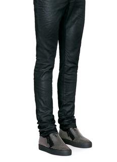 Giuseppe Zanotti Design'May London' stud leather skate slip-ons