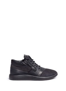 Giuseppe Zanotti Design'Singleg' zip suede leather combo sneakers