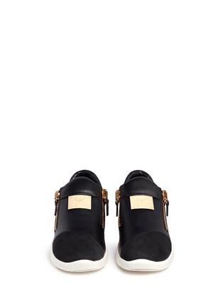 Giuseppe Zanotti Design-Suede trim logo leather sneakers