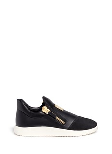 Giuseppe Zanotti Design Suede trim logo leather sneakers