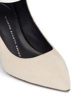 'Lucrezia' metallic ankle strap suede pumps