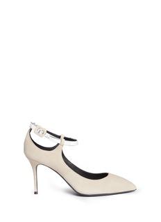 Giuseppe Zanotti Design'Lucrezia' metallic ankle strap suede pumps