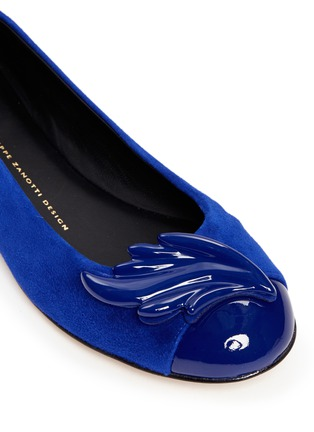 Detail View - Click To Enlarge - Giuseppe Zanotti Design - 'Cruel' logo charm suede flats