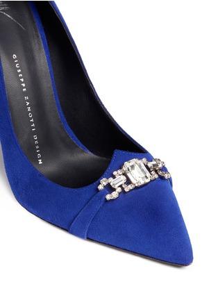 细节 - 点击放大 - GIUSEPPE ZANOTTI DESIGN - Lucrezia仿水晶装饰绒面皮高跟鞋