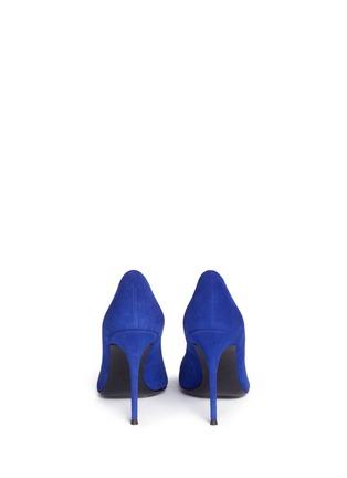 背面 - 点击放大 - GIUSEPPE ZANOTTI DESIGN - Lucrezia仿水晶装饰绒面皮高跟鞋