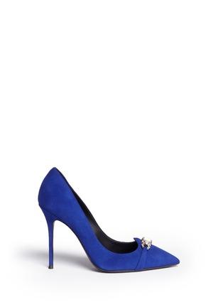 首图 - 点击放大 - GIUSEPPE ZANOTTI DESIGN - Lucrezia仿水晶装饰绒面皮高跟鞋