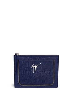 Giuseppe Zanotti Design Grainy leather document holder