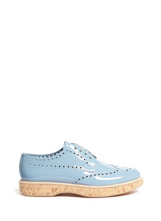 Main View - Click To Enlarge - Church ' S - 'Keely' cork sole patent leather brogue derbies