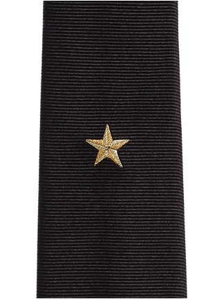 Detail View - Click To Enlarge - Givenchy Beauty - Metallic star embroidery silk tie