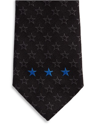 Detail View - Click To Enlarge - Givenchy Beauty - Contrast star embroidery silk tie