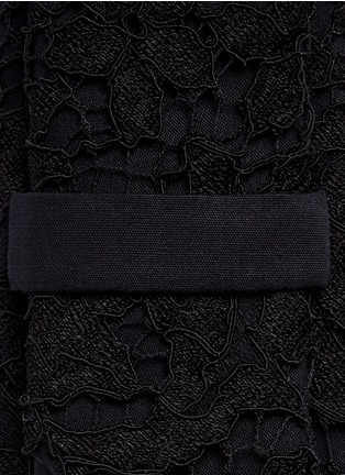 Givenchy - Guipure lace overlay cotton tie