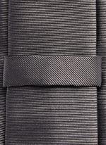 Star stripe embroidery silk tie