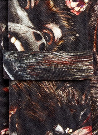 Detail View - Click To Enlarge - Givenchy Beauty - Monkey print cotton tie