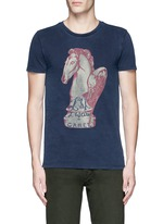 'Rocker' chess piece print T-shirt