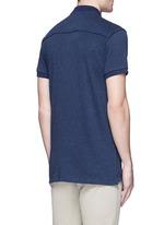 'Home Alone' cotton knit polo shirt