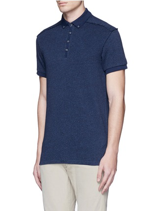 Front View - Click To Enlarge - Scotch & Soda - 'Home Alone' cotton knit polo shirt