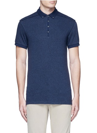 Main View - Click To Enlarge - Scotch & Soda - 'Home Alone' cotton knit polo shirt