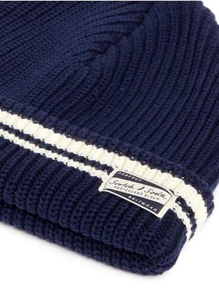 细节 - 点击放大 - SCOTCH & SODA - 拼色条纹纯棉针织帽