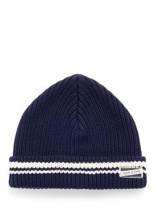 首图 - 点击放大 - SCOTCH & SODA - 拼色条纹纯棉针织帽