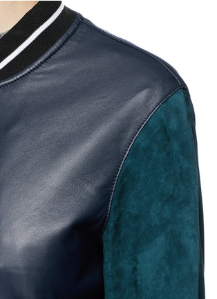 Detail View - Click To Enlarge - rag & bone - 'Alix' colourblock leather suede bomber jacket