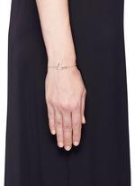 'Neon Love' 18k yellow gold charm bracelet