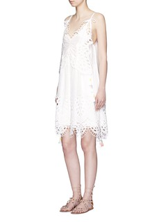 CHLOÉ Butterfly broderie anglaise tassel tulle dress