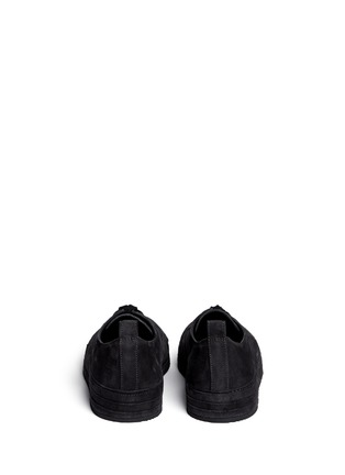 Back View - Click To Enlarge - ANN DEMEULEMEESTER SHOES - Suede low top sneakers