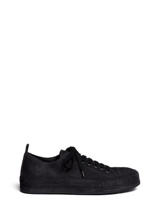 Main View - Click To Enlarge - ANN DEMEULEMEESTER SHOES - Suede low top sneakers
