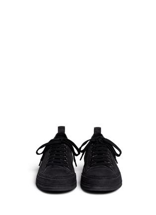 Figure View - Click To Enlarge - ANN DEMEULEMEESTER SHOES - Suede low top sneakers