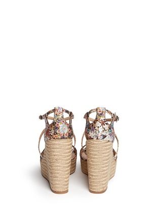 Back View - Click To Enlarge - TABITHA SIMMONS - 'Jenny' dizzy floral print wedge espadrilles
