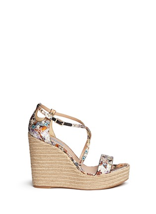 Main View - Click To Enlarge - TABITHA SIMMONS - 'Jenny' dizzy floral print wedge espadrilles