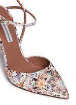 'Valentina' dizzy floral print silk pumps