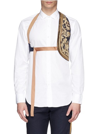 Main View - Click To Enlarge - Dries Van Noten - Embroidered cotton harness