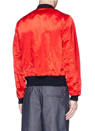 Back View - Click To Enlarge - Dries Van Noten - 'Vinny' satin reversible bomber jacket