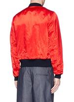 'Vinny' satin reversible bomber jacket