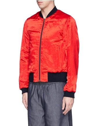 Front View - Click To Enlarge - Dries Van Noten - 'Vinny' satin reversible bomber jacket