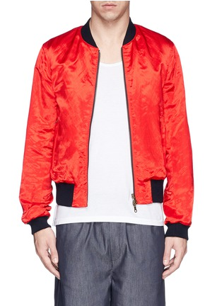 Main View - Click To Enlarge - Dries Van Noten - 'Vinny' satin reversible bomber jacket