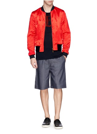Figure View - Click To Enlarge - Dries Van Noten - 'Vinny' satin reversible bomber jacket