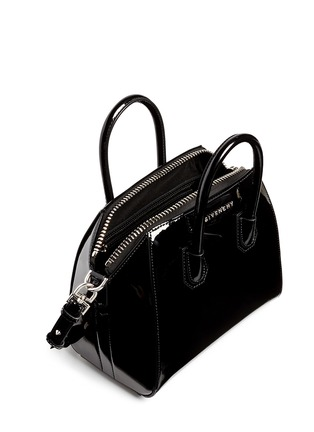 Detail View - Click To Enlarge - Givenchy - 'Antigona' mini patent leather bag