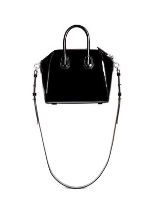 Back View - Click To Enlarge - Givenchy - 'Antigona' mini patent leather bag