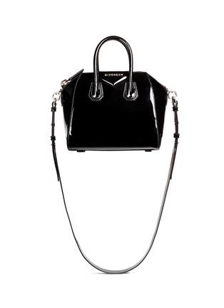 Main View - Click To Enlarge - Givenchy - 'Antigona' mini patent leather bag