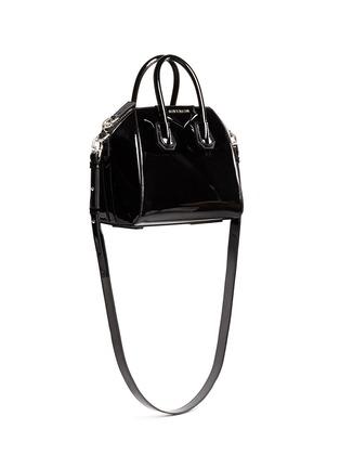 Figure View - Click To Enlarge - Givenchy - 'Antigona' mini patent leather bag