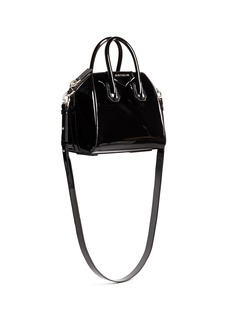 GIVENCHY 'Antigona' mini patent leather satchel