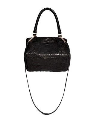 Back View - Click To Enlarge - Givenchy - 'Pandora' small crinkle leather bag
